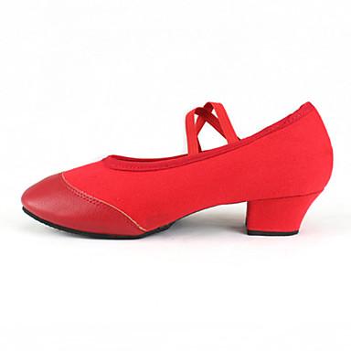 נשים ילדים מודרני בד סנדלים עקבים נעלי ספורט אימון מתחילים מקצועי פנימי חיצוני הופעה עקב נמוך שחור אדום ללא התאמה אישית
