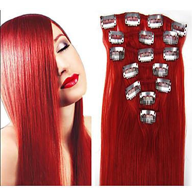 Clip In Hiukset Extensions Aitoa hiusta Hiustenpidennys