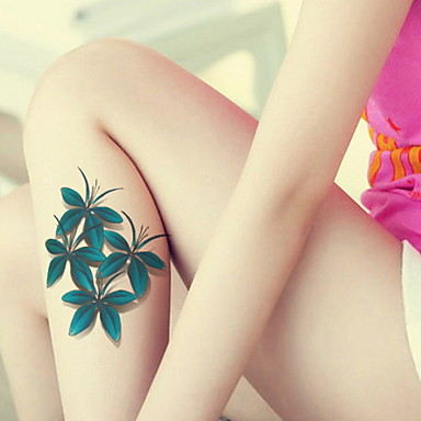 BR - 타투 스티커 - Non Toxic / 패턴 / 큰 사이즈 / 글리터 / 머신 건 / 종족의 / 허리 아래 / Waterproof / 3-D / 크리스마스 / 새해 - 쥬얼리 시리즈 / 꽃 시리즈 / Totem Series / 기타 -아이