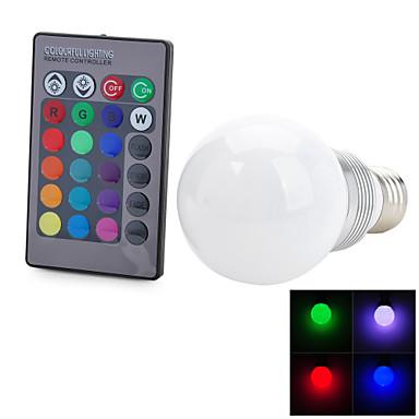 E26/E27 LED-pallolamput T 1 ledit Integroitu LED Kauko-ohjattava Koristeltu RGB 100-200lm 2700-6500K AC 85-265V