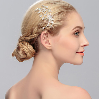 Rhinestone Hair Combs Headpiece Wedding Party Elegant Feminine Style