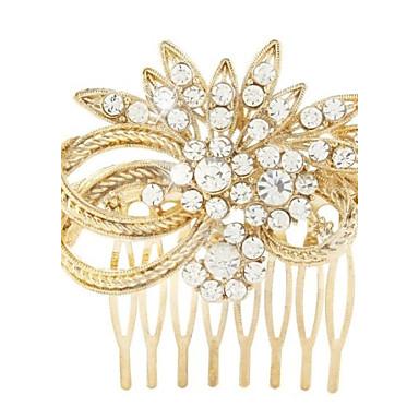 metalliseos hiukset kammat headpiece häät juhla tyylikäs feminiininen tyyli