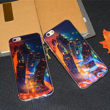 Varten iPhone 6 kotelo iPhone 6 Plus kotelo kotelot kuoret Kuvio Takakuori Etui city View Pehmeä TPU varteniPhone 6s Plus iPhone 6 Plus