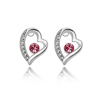 נשים עגילים צמודים טבעות חישוקים לב תכשיטים דמוי פנינה Heart Shape תכשיטים עבור חתונה Party יומי קזו'אל