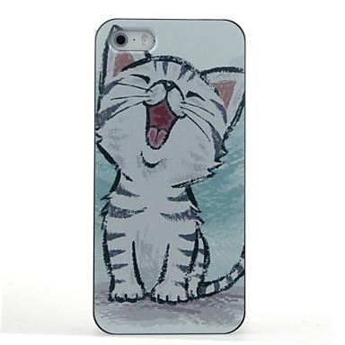 מגן עבור iPhone 7 אייפון 5 Apple מגן אייפון5 תבנית כיסוי אחורי חתול קשיח PC ל iPhone 7 iPhone SE/5s iPhone 5
