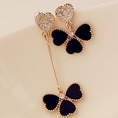 levne Dámské šperky-Dámské Neshoda Visací náušnice Štras Náušnice dámy Klasické Moderní Šperky Černá Pro Denní Ležérní