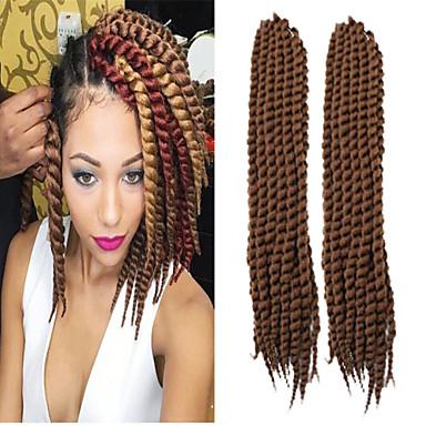 Light Auburn Havana Twist Braids Hair Extensions 22-24inch Kanekalon 2 Strand 80g/pcs gram Hair Braids