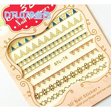 3D Nail Stickers - Muuta - Abstrakti / Punk - Sormi / Varvas - 10.5X7X0.6 - 6