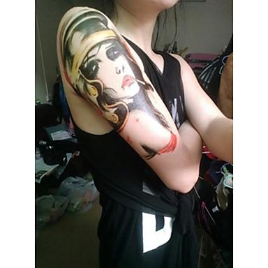 방수 임시 문신 큰 팔 가짜 전송 문신 스티커 섹시한 문신