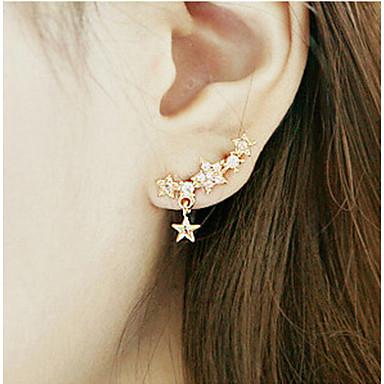 abordables Boucle d'Oreille-Femme Zircon cubique Boucle d'Oreille Pendantes Etoile dames Personnalisé Des boucles d'oreilles Bijoux Dorée Pour
