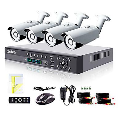 liview® 4ch hdmi 960h síťový dvr 900tvl venkovní kamerový systém den / noc