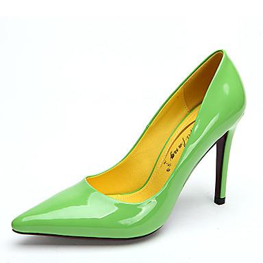 נעלי נשים - בלרינה\עקבים - עור פטנט - עקבים / שפיץ - שחור / צהוב / ירוק / ורוד / אדום / לבן / עור - חתונה / שמלה / מסיבה וערב - עקב סטילטו