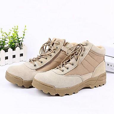 Miesten kengät Nahka / Denim Syksy / Talvi Comfort / Maiharit Bootsit 10.16-15.24cm / Nilkkurit Musta / Beesi
