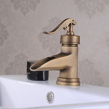 Traditional Deck Mounted Ceramic Valve One Hole Single Handle One Hole Chrome, Bathroom Sink Faucet