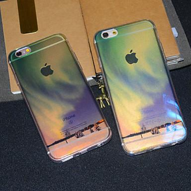 Varten iPhone 6 kotelo iPhone 6 Plus kotelo kotelot kuoret Läpinäkyvä Kuvio Takakuori Etui Scenery Pehmeä TPU varteniPhone 6s Plus iPhone