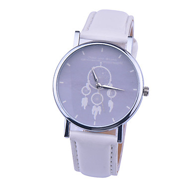 Mulheres Relógio de Pulso Venda imperdível PU Banda Amuleto / Fashion Preta / Branco / Laranja / Aço Inoxidável