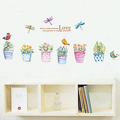 Landschaft Romantik Mode Formen Blumen Feiertage Worte & Zitate Cartoon Design Fantasie Wand-Sticker Flugzeug-Wand Sticker Dekorative