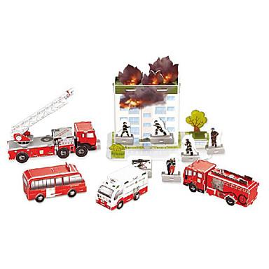פאזלים פאזלים3D דגם נייר אבני בניין צעצועי DIY מכונית נייר כסוף ירוק צעצוע בניה ודגם