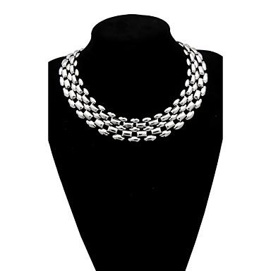 נשים שרשראות מחרוזת שרשראות הצהרה סגסוגת תכשיטים גדולים תכשיטים עבור חתונה Party יומי קזו'אל