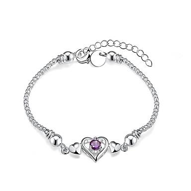 Žene Gipke i čvrste narukvice Zircon Kubični Zirconia Kamen Glina Ljubav Pink Jewelry 1pc