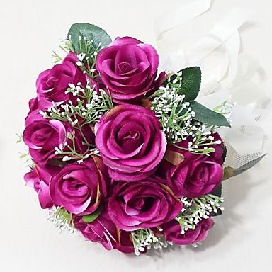 Esküvői virágok Csokrok Esküvő Party / estély Szatén 9,84