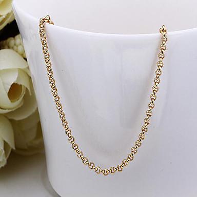 baratos Bijuteria de Mulher-Mulheres Colares em Corrente Cadeia de Foxtail senhoras Dubai Banhado a Ouro 18K Amarelo Ouro Dourado Colar Jóias Para