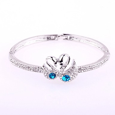 Women's Crystal Bracelet Bangles - Crystal Love Bracelet Silver / Golden For Wedding / Party / Daily
