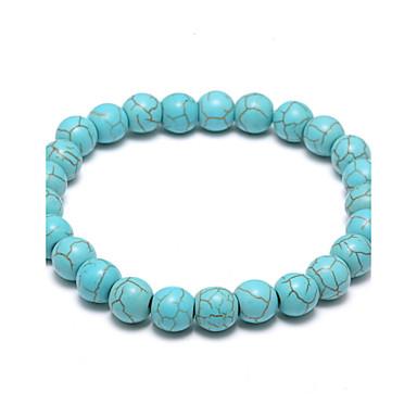 Türkis Glasperlen Strang-Armbänder - Türkis Geburtssteine Armbänder Für Hochzeit / Party / Alltag