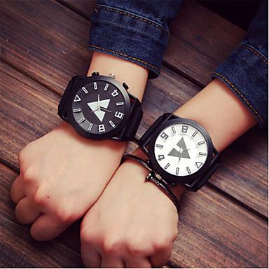 Men's Women's Couple's Quartz Sport Watch Casual Watch Silicone Band Charm Fashion Multi-Colored
