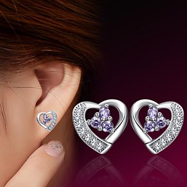 Niittikorvakorut Heart Sterling-hopea Heart Shape Korut Varten Häät Party Päivittäin Kausaliteetti Urheilu 1kpl