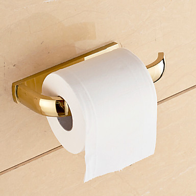 Toilet Paper Holder Contemporary Brass 1 pc - Hotel bath