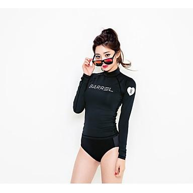 Dame T-skjorte til jogging Langermet Fort Tørring Solkrem Topper til Yoga & Danse Sko Trening & Fitness Svømming Dykking Racerløp Surfing