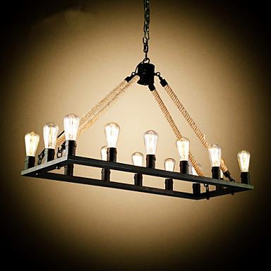 Regional Luzes Pingente Para Sala de Estar Quarto Sala de Jantar Quarto de Estudo/Escritório AC 220-240V Lâmpada Incluída