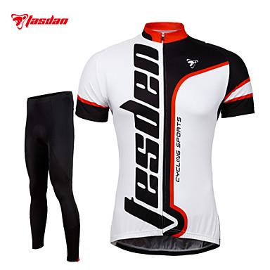 TASDAN Calça com Camisa para Ciclismo Homens Manga Curta Moto Calças Camisa/Roupas Para Esporte Meia-calça Conjuntos de Roupas Secagem