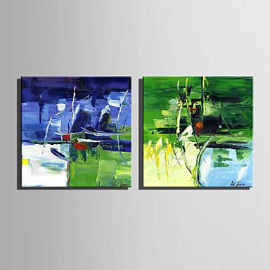 Maalattu Maisema / FantasyEuropean Style 1 paneeli Kanvas Hang-Painted öljymaalaus For Kodinsisustus