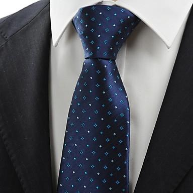 Gravata(Azul Escuro,Poliéster)Listrado