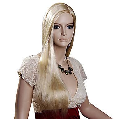 duga dužina ravna kosa europska tkati plava boja kose sintetička perika