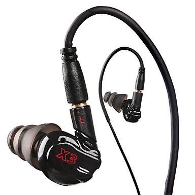 x3 urheilu kuulokkeet ajetaan mikrofoni mp3-soitin, mp4, matkapuhelimet Nappikuulokemikrofoni ääntä eristävät kuulokkeet