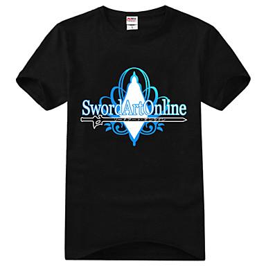 Innoittamana Sword Art Online Kirito Anime Cosplay-asut Cosplay T-paita Painettu Lyhythihainen T-paita Käyttötarkoitus Unisex