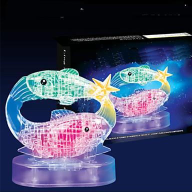 voordelige 3D-puzzels-3D-puzzels Houten puzzels Kristallen puzzels Vissen ABS Jongens Meisjes Speeltjes Geschenk