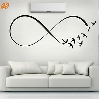 Eläimet / Romantiikka / Muoti / Muodot / Abstrakti Wall Tarrat Lentokone-seinätarrat,PVC S:23*61cm/ M:31*84cm / L:45*117cm