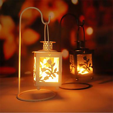 Moderne / Nutidig Rustfritt Stål Lysestaker Lysestake 1pc, Stearinlys / Stearinlysholder