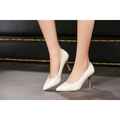 Mulheres / Para Meninas Sapatos Courino Primavera / Verão Salto Agulha Roxo / Azul / Rosa claro / Social