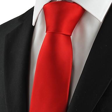 עניבת צווארון - יצירתי מסוגנן פאר מוצק קלסי מסיבה חתונה בגדי ריקוד גברים