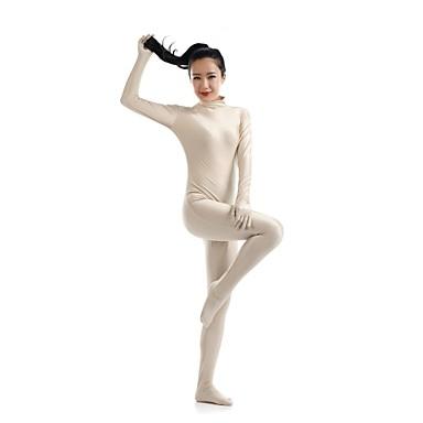 Zentai Anzüge Ninja Zentai Kostüme Cosplay Kostüme Beige Solide Gymnastikanzug / Einteiler Catsuit Zentai Kostüme Elasthan Lycra Herrn