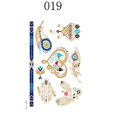 Séries Totem / Outros-自主-Tinta Corporal Temporária-Non Toxic / Lombar / Efeito 3D- paraFeminino / Masculino / Adulto / Adolescente- de