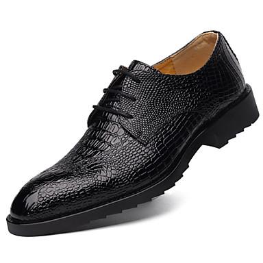Miehet Kengät Nahka Comfort Oxford-kengät Käyttötarkoitus Kausaliteetti Musta Ruskea