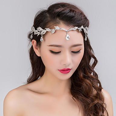 שרשרת לראש פנינה קריסטל אבן נוצצת סגסוגת תכשיטי דת וינטאג' מסיבה בגדי ריקוד נשים