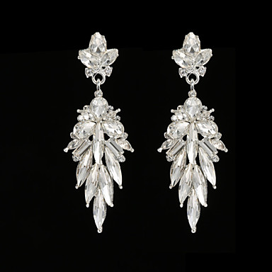 Žene Viseće naušnice Umjetno drago kamenje Srebrna Legura Kapi Jewelry