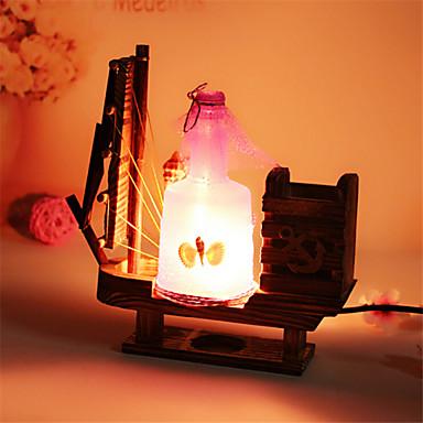 kreative Holz Drift Flasche Licht Segel Lampe Dekoration Schreibtischlampe Schlafzimmerlampe Geschenk für Kind (sortierte Farbe)